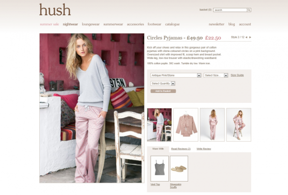 Hush re-platforms online shop onto Magento