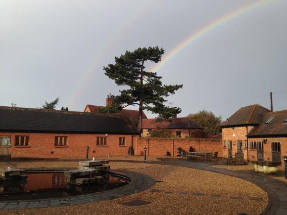 Wisley with rainbow