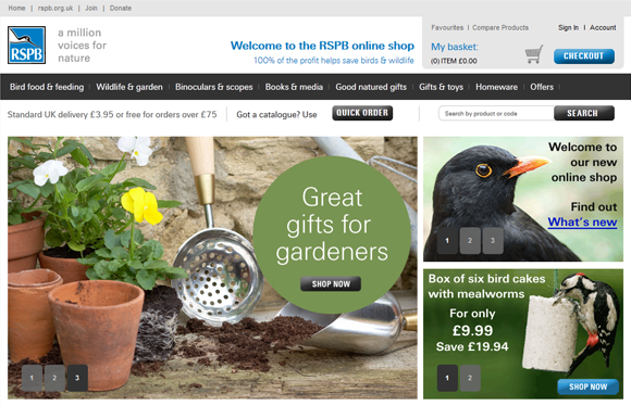 RSPB re-platforms online shop onto Magento – implemented by Screen Pages