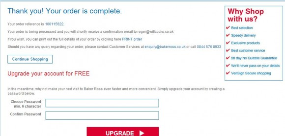 E-commerce checkout design & follow-up email best practice