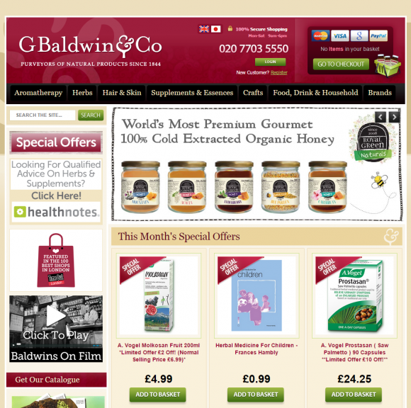 Baldwins appoints Screen Pages to manage & support its Magento website