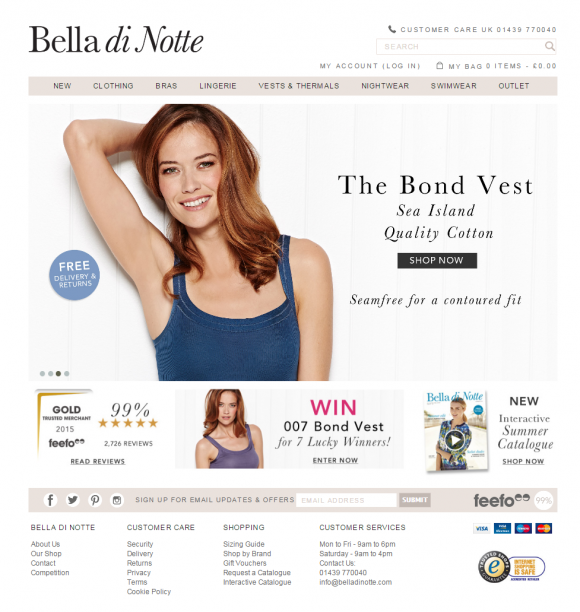 Bella di Notte launches re-branded & upgraded ecommerce website