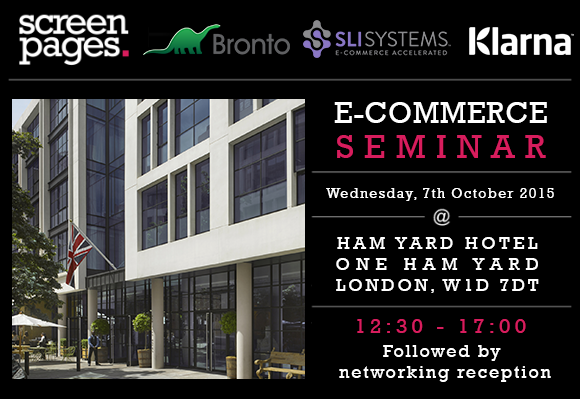 E-commerce seminar with Screen Pages
