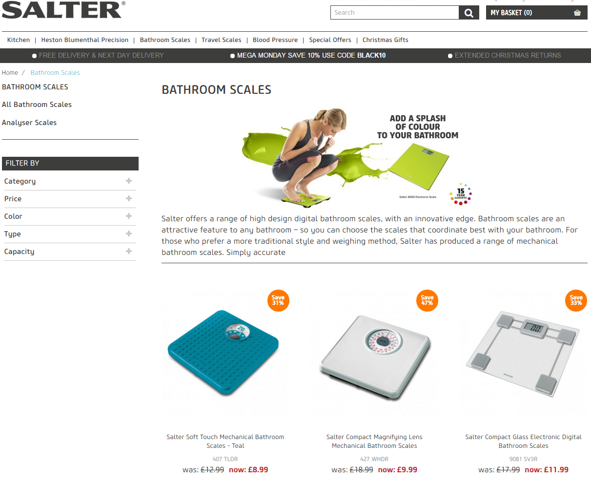 Salter launches new e-commerce website to increase sales of leading