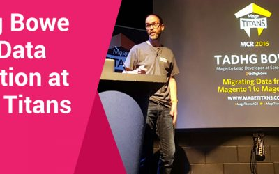 Tadhg Bowe talks at Mage Titans developer conference