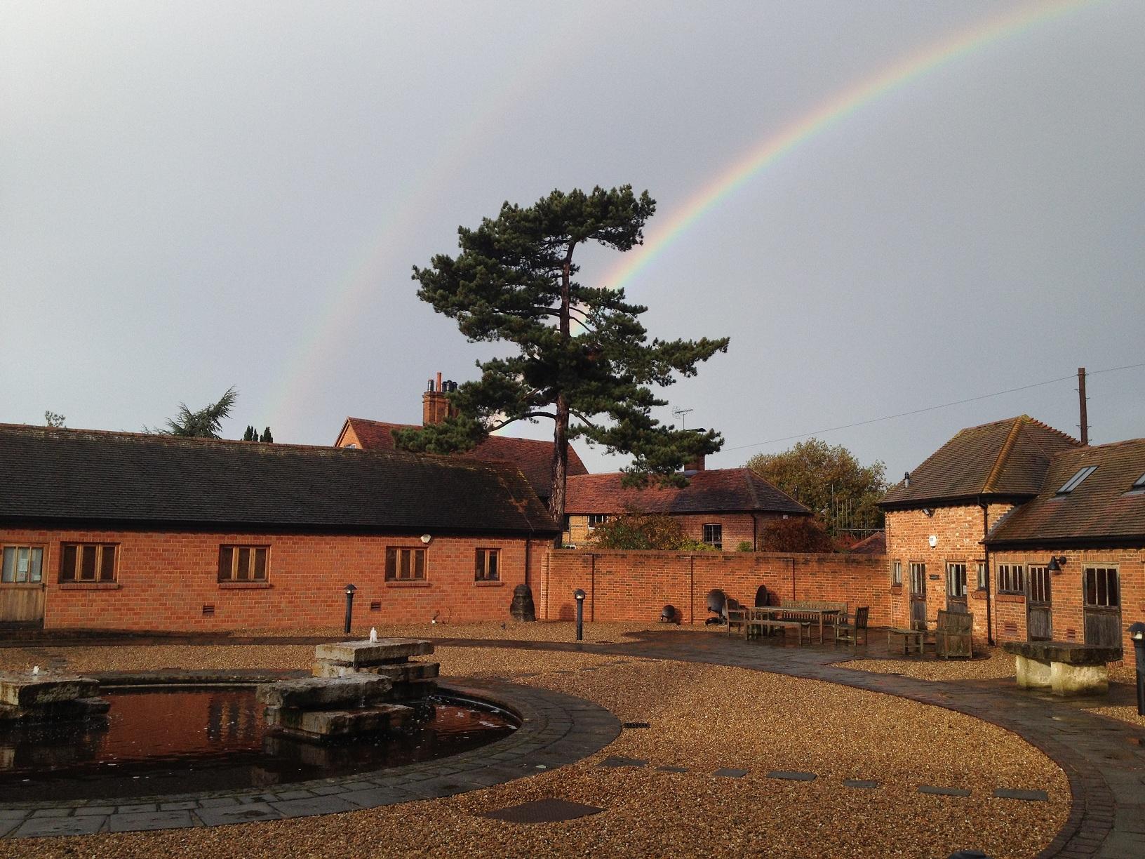 Wisley with rainbow