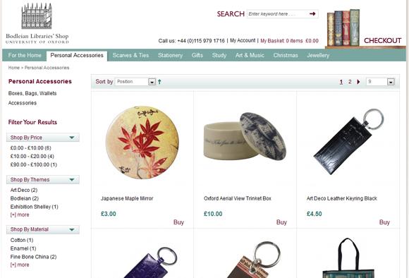 Bodleian Library website